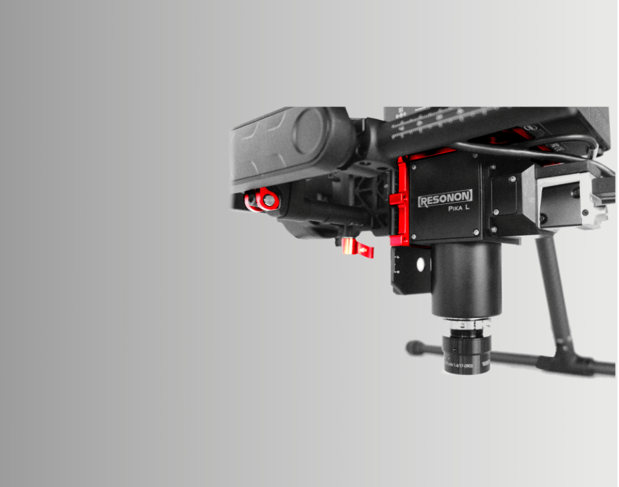 Resonon Pika L Hyperspectral Imaging Camera Mounted In A Drone